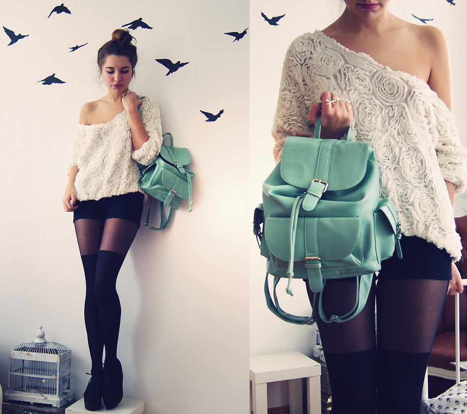 Образ с модным рюкзаком №4