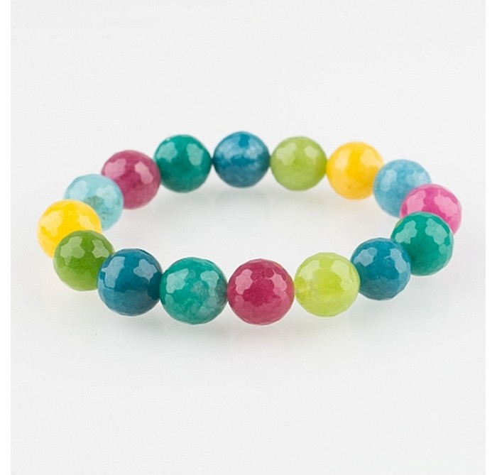 браслет из разноцветного кварца