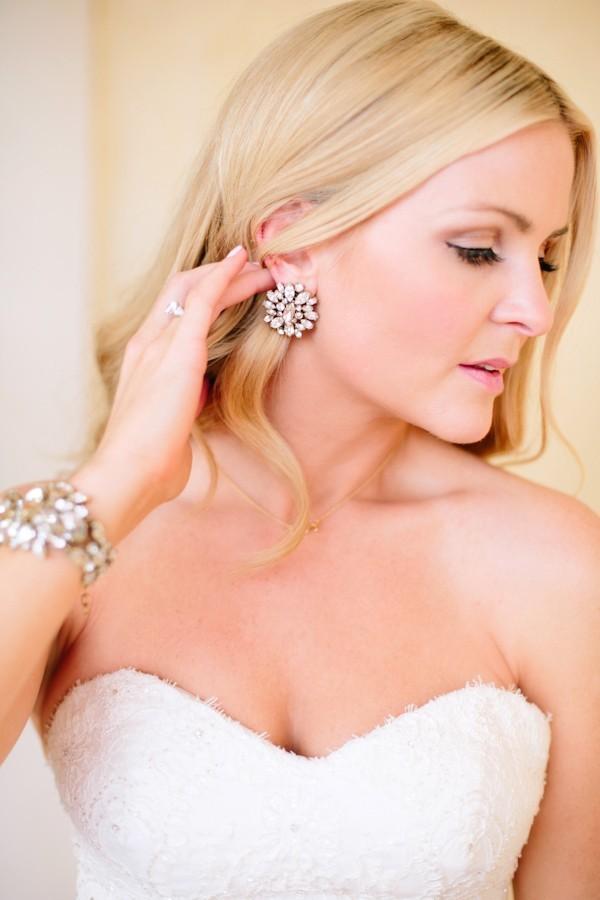 серьги к свадебному платью