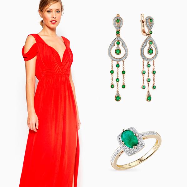 серьги под красное платье