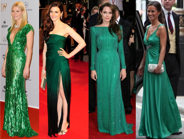 украшения под зеленое платье